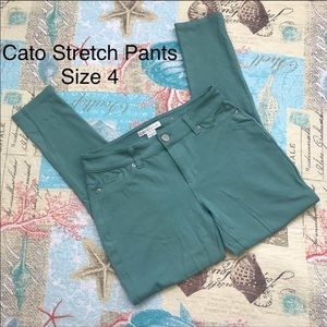 Cato Green Stretch Contemporary Skinny Pants